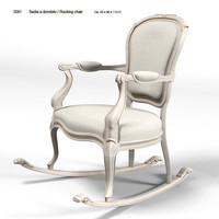 savio firmino 3081 classic rocking chair  sedia a dondolo antique armchair